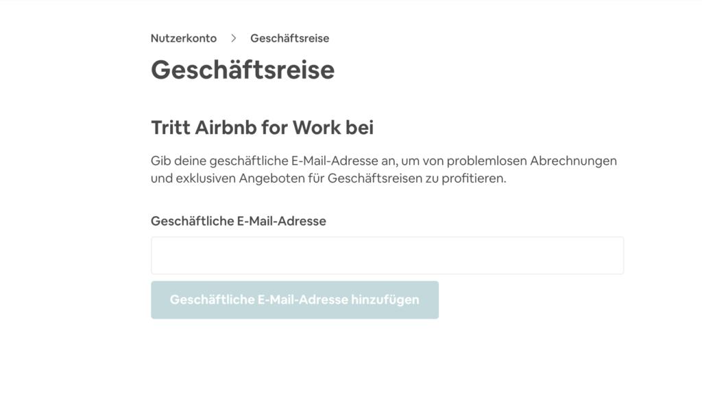 Weiteres Beispiel Airbnb: Einstellungen mit einem deaktivierten Button