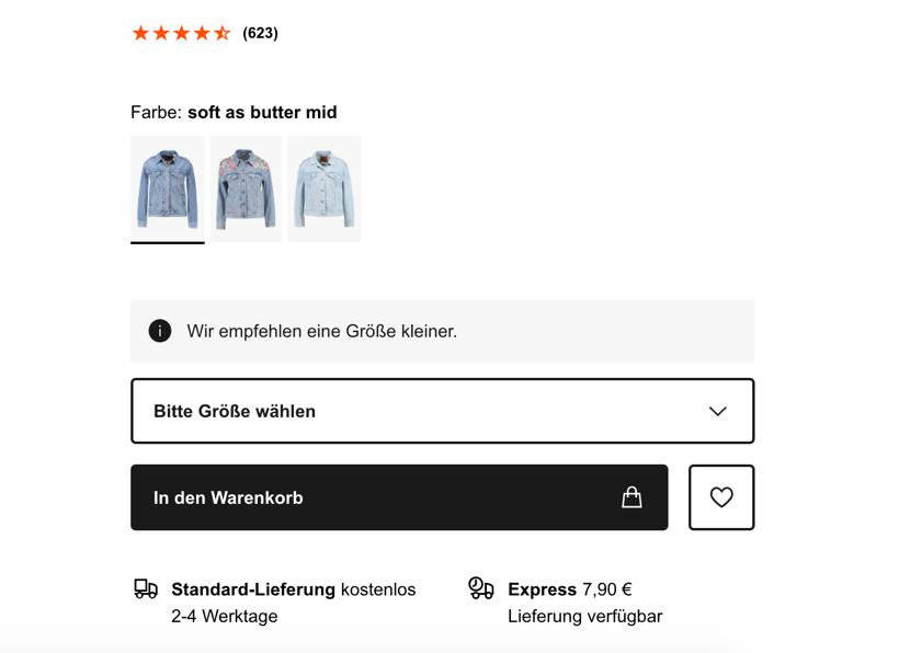 Zalando Online Shop: Produktdetailseite